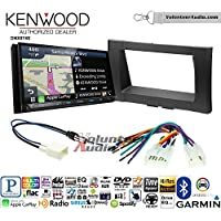 Volunteer Audio Kenwood DNX874S Double Din Radio Install Kit with GPS Navigation Apple CarPlay Android Auto Fits 2014-2017 Non Amplified Toyota Tundra