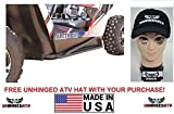 Bundle 2 items: Dragonfire Racing RockSolid RockSliders for Wildcat Trail/Sport and Free Unhinged ATV HAT!