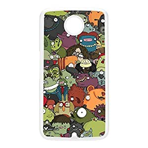 Creatures Mess White Hard Plastic Case for Google Nexus 6 by Miki Mottes + FREE Crystal Clear Screen Protector