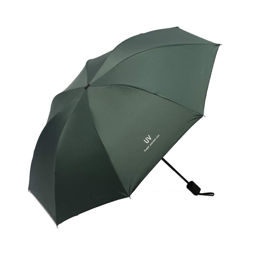 Babysbreath17 Anti Sonnenlicht Regen Regenschirm 3 Folding Stahl-Skelett Outdoor Wandern Camping Reisen Sonnenschirm Sonnenschirm Dunkelblau 26cm