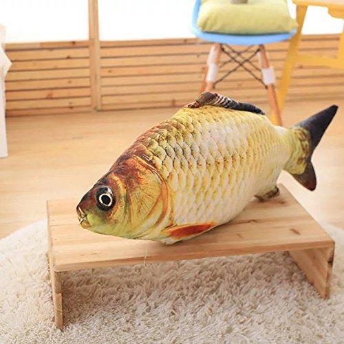 Evaliana 3D Fish Carp Stuffed Animal Pillow Cushion Animal Kids Children Toy Sofa