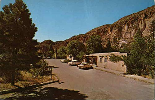 Frijoles Canyon Lodge Bandelier National Monument, New Mexico Original Vintage Postcard ()