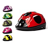3Style Scooters - Kids Cycle Helmet in Ladybird Design - For Cycling, Skating, Scooting - Adjustable Headband For Head Sizes 49cm 50cm & 51cm - Vented Design - Suitable for Kids Aged 2,3 & 4 Years