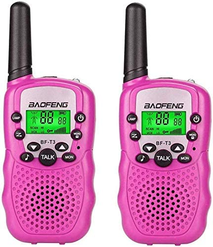 -Pink BF-T3 Kids Walkie Talkies 22 Channel Childrens Two-Way Radio FRS//GMRS UHF Long Range 1 Pair