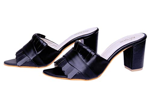 a74d6d4f76c AnShe Girls Women s Durable Soft Leather Peep Toe   3 inch Block Heel  Fashion Sandals