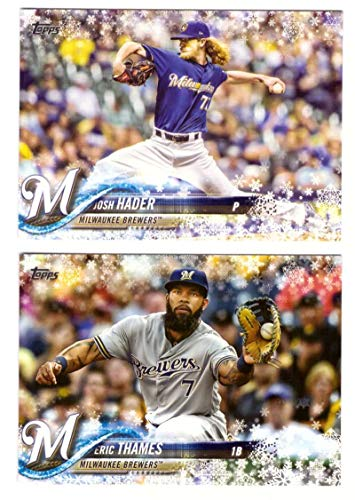 2018 Topps Walmart Holiday Snowflake - MILWAUKEE BREWERS Team Set