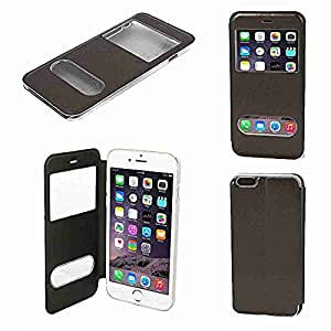 """Movimiento y movimiento (TM)–Funda de piel sintética Protectora de Pantalla Color De Café para iPhone 6Plus 5.5"""""""