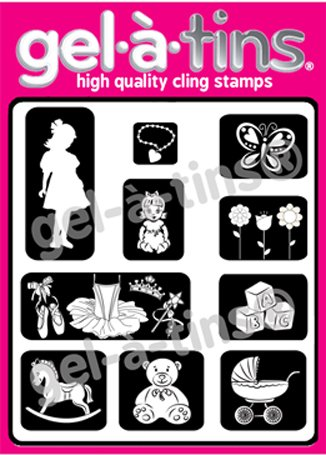 Gel-a-tins Clear Stamps in a Tin