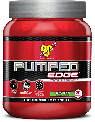 BSN 30 Servings Pumped Edge Pre-Workout Powders, Green Apple, 360 Gram (Creatine Pump Fuel)