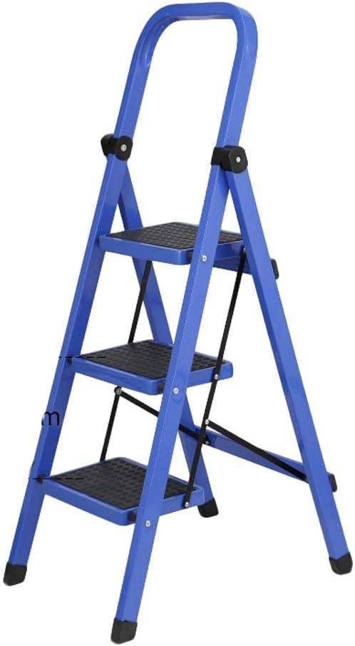 Escalera ZHAOSHUNLI de acero al carbono, plegable, espiguilla, escaleras móviles para interiores, escalera telescópica, escalera multifunción, tubo cuadrado: Amazon.es: Hogar