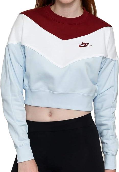 Nike W NSW Hrtg Crew SB Long Sleeve Top, Donna, Donna