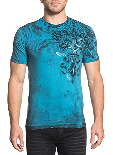 Xtreme Couture Men's Loyal Following Tee Shirt Pacific Blue 3X-Large