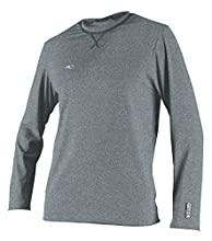 O'Neill Men's Hybrid UPF 50+ Long Sleeve Sun Shirt, Cool Grey, Large