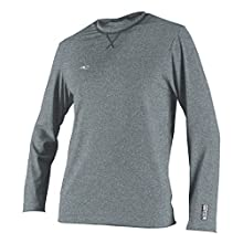 O'Neill Men's Hybrid UPF 50+ Long Sleeve Sun Shirt, Cool Grey, Small