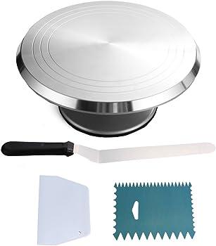 Chiyan 001 Decoration kit Round Cake Revolving Turnable 12''Stand