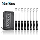 YEECHUN 8-PACK Screwdriver Splined Carb Carburetor Adjusting Tool Kit (1xPac Man; 1xSmall Head Pac Man; 1xSingle D; 1xSmall Head Single D; 1xDouble D; 1xHexagon; 1x7 Teeth Splined; 1x21 Teeth Splined)