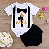 Baby Boy First Birthday Outfit Infant Wild One