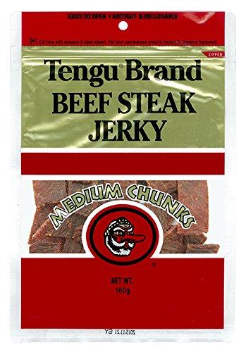 テング ビーフステーキジャーキー ミディアムチャンク レギュラー 160g 国内製造品