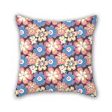 PILLO flower throw cushion covers ,best for couch,kids room,son,family,festival,christmas 20 x 20 inches / 50 by 50 cm(twin sides)