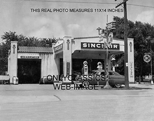 OnlyClassics 1949 Sinclair Gas Oil Station 11x14 Photo Mercury HOT Rod Globe Pump AUTOMOBILIA