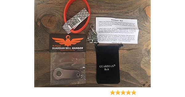 Guardian Bell Handful Complete Motorcycle KIT W//Hanger /& Wristband