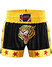 Muay Thai Shorts MMA Boxing Cage Fighting Kick Boxing Tiger Emorided Trunks