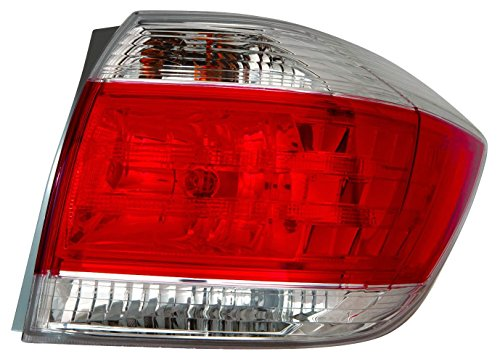 Depo 312-19A7R-AF Toyota Highlander Passenger Side Tail Lamp Assembly with Bulb and Socket (NSF (Side Lamp Assembly)