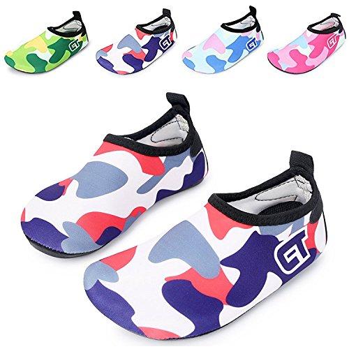 [WXDZ Kids Water Shoes Swim Shoes Mutifunctional Quick Drying Barefoot Aqua Socks for Beach Pool] (Shoes For Child)