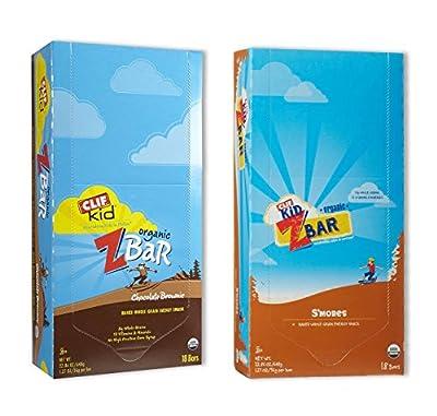 Kid Zbar 18 Chocolate Brownie/18 Smores (18 Both Flavors)