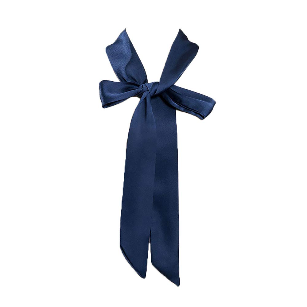 Fashion Skinny Scarf Long Polyester Women Hair Wrap Cap Hat Accessory Knot Belt