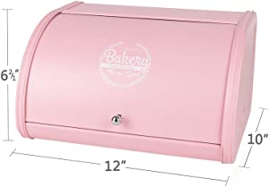 Hot Sales X458 Metal Bread Box/Bin/kitchen Storage Containers with Roll Top Lid (pink)