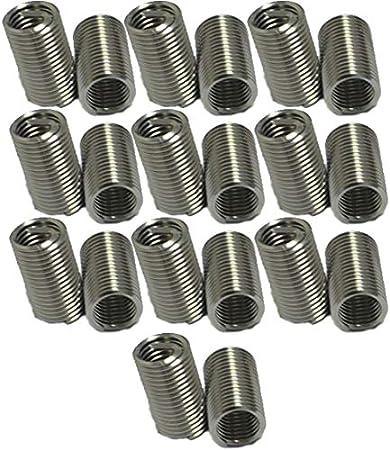 XunLiu 304 Stainless Steel Wire Thread Insert HeliCoil Stripped Thread Rethread Repair 50, M3-0.5X2D