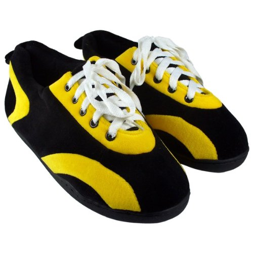 Mens Womens Black Slippers and and Feet and Happy Feet Yellow Comfy All Around YFIqH