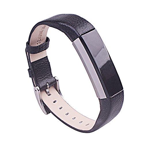 Voor Fitbit Alta Band Leer, AISPORTS Fitbit Alta HR Band Lederen Band Smart Horloge Vervanging Bandjes Metaal Klassieke…