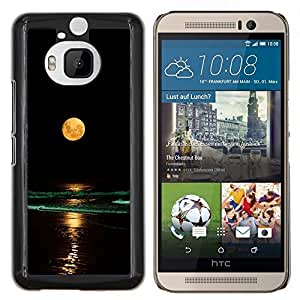 Stuss Case / Funda Carcasa protectora - Completo Waves Yellow Moon Beach Nigh Mar Océano - HTC One M9Plus M9+ M9 Plus
