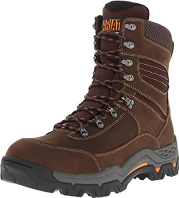 "Ariat Men's Workhog Trek 8"" H2O Work Boot, Oily Distressed Brown, 14 2E US"