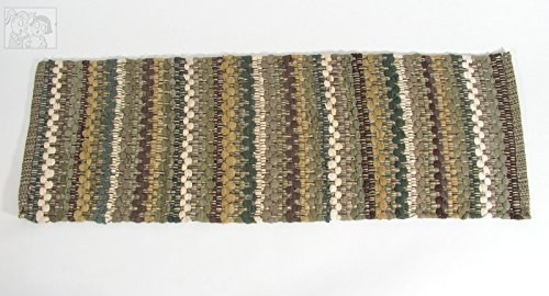 (Mineral Stripe Southwestern Chindi Design Table Runner, 13x36 inches)