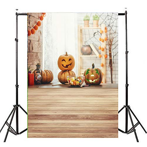 YOcheerful Halloween Backdrops Pumpkin Lantern Background Photography Studio -