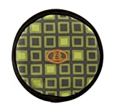 OllyDog The Olly Flyer Throw Disc Frisbee with Green Squares, Large