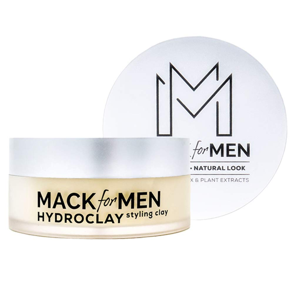 Mack for Men HydroClay | Premium Mens Hair Styling Clay | Natural Organic Hair Clay (2.5 oz) by Mack for Men