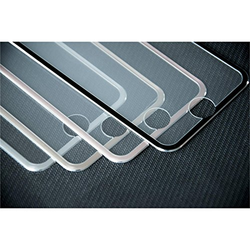 1 x Apple iPhone 7 Plus / 8 Plus Pellicola Protettiva Vetro Temperato chiaro full screen con telai metallici in argento - PhoneNatic Pellicole Protettive