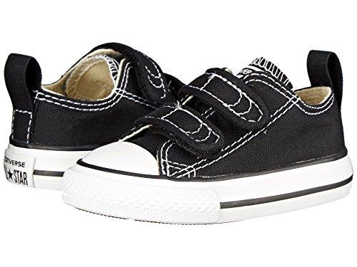 Converse Kids' Chuck Taylor 2v Ox (Infant/Toddler) (3 M US Infant, 2V-Black) ()