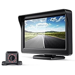 aokur HD Backup Camera TFT LCD Rearview Monitor, Waterproof Night Vision License Plate Starlight Cam, Auto Reverse Parking Assistance System for Car Vehicle Bus Truck Van Camper RVs ATV