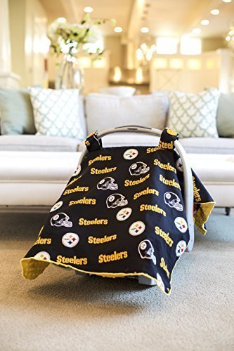 Price comparison product image Carseat Canopy (NFL Pittsburgh Steelers) Baby Infant Car Seat Cover by Carseat Canopy