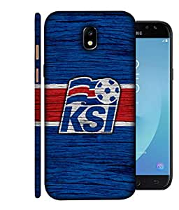 ColorKing Football Iceland 05 Blue shell case cover for Samsung J7 Pro 2017