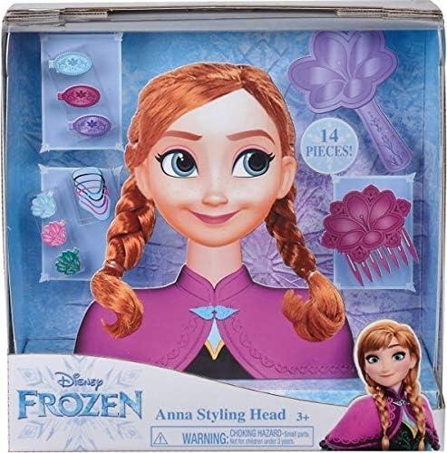 Cabeza de peluquer/ía Smoby 7600320312 Frozen Anna Multicolor
