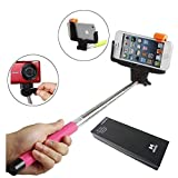 YOPO Selfie Stick Extendable Bluetooth Remote Monopod (Pink)