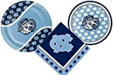 University of North Carolina Party Supply Pack! Bundle Includes Paper Plates & Napkins for 8 Tarheel Guests