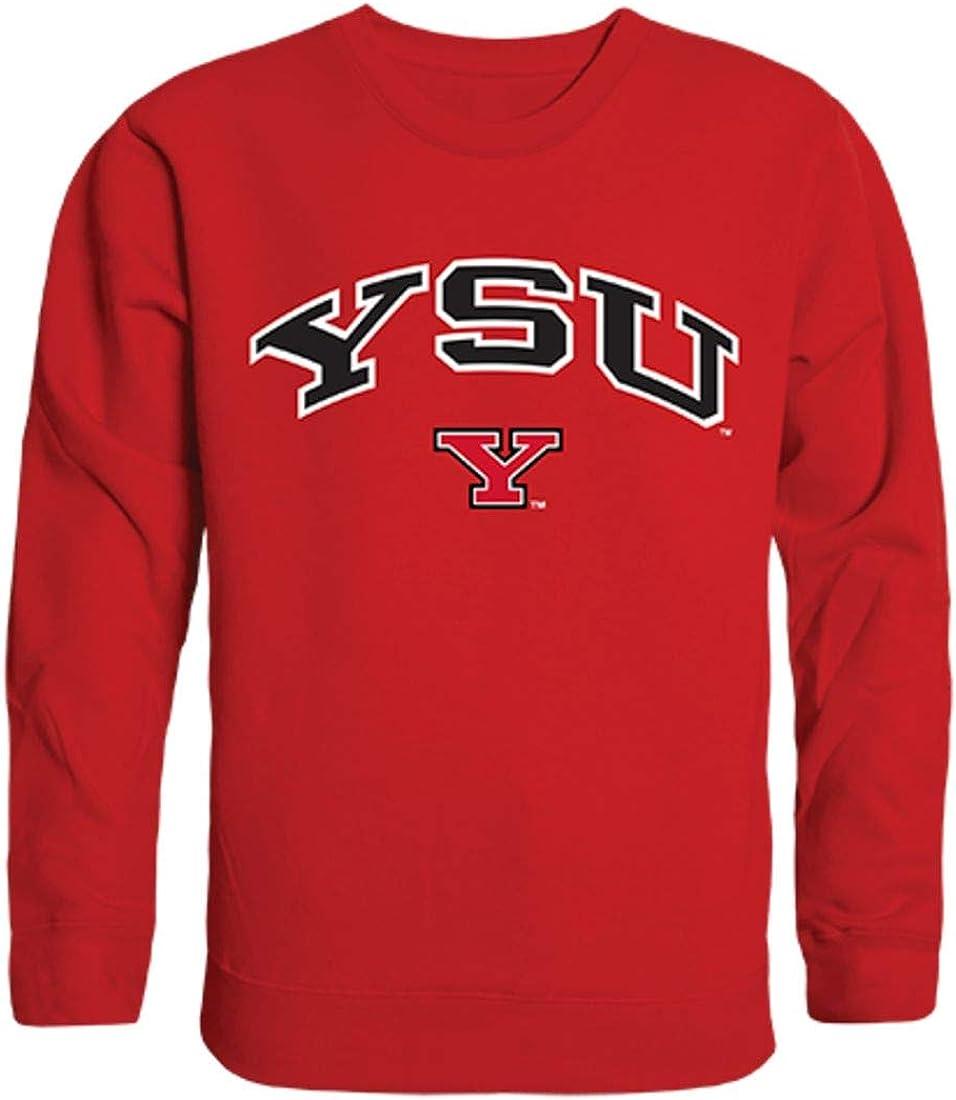 YSU Youngstown State University Campus Crewneck Pullover Sweatshirt Sweater Red