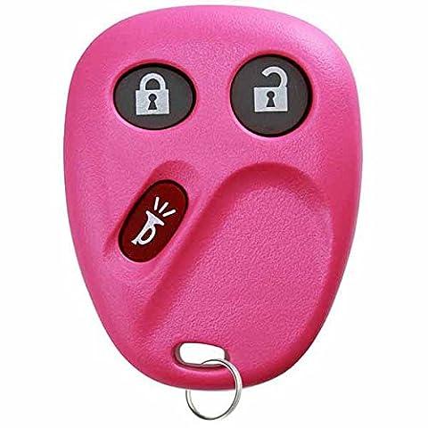 KeylessOption Keyless Entry Remote Control Car Key Fob Replacement for LHJ011 - Pink (Keyless Entry Car Fob)